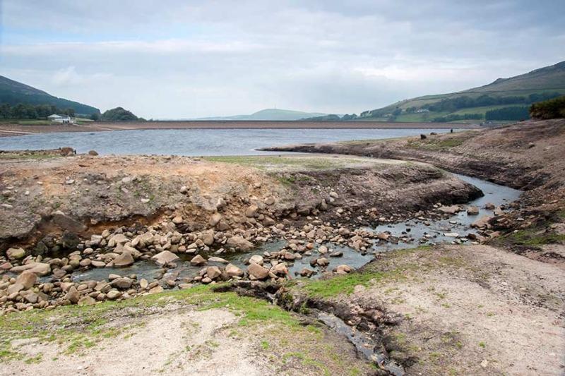 Drought-stricken reservoir