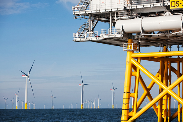 The huge UK renewables market is suffering from policy roll-backs, but sectors such as offshore wind also offer opportunities to export expertise. Photograph: Iberdrola