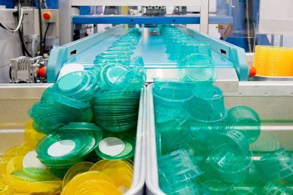 Mass production of plastic containers. Photograph: pixpack / 123RF