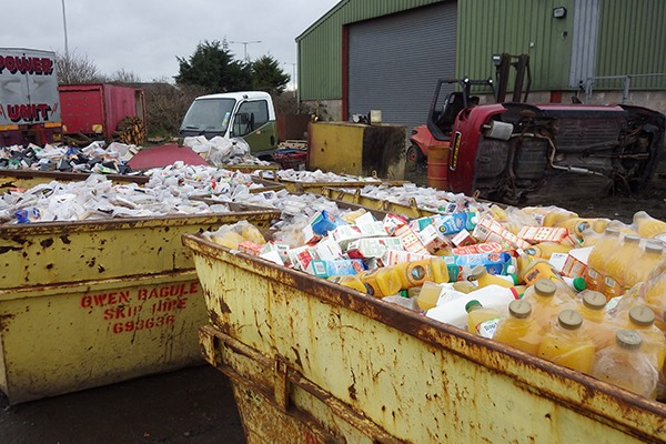 EA officers found 42 skips full of waste on Baguley's site. Photograph: Environment Agency