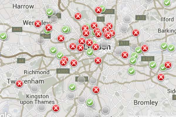 Much of London failed to meet legal air quality standards last year. Image: King's College London