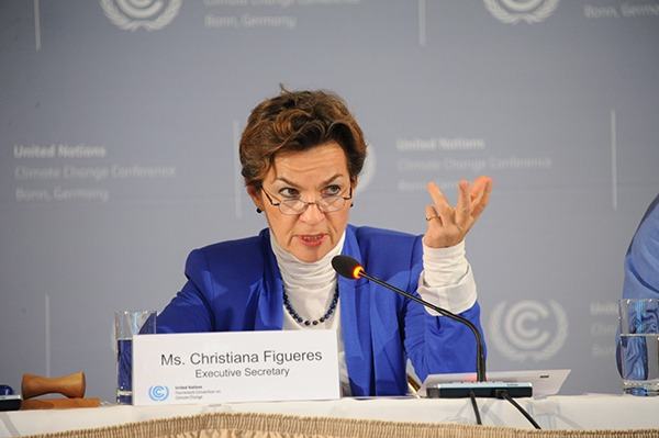 Outgoing UN climate head Christiana Figueres stressed the complex Paris Agreement needs to maintain momentum on several fronts simultaneously. Photograph: UN