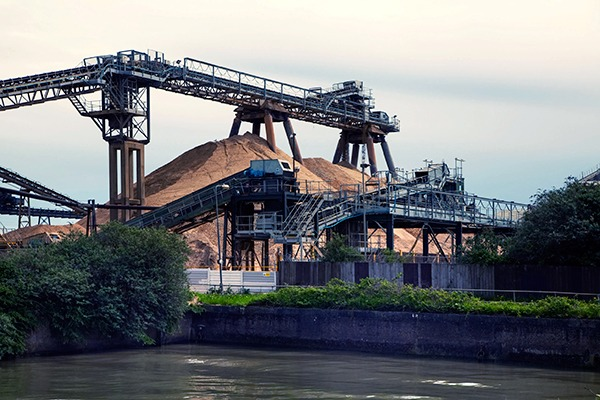A cement plant. Photograph: Irstone/123RF