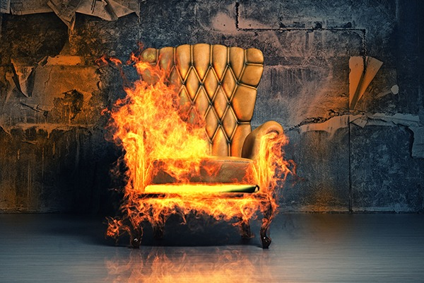Before the Furniture and Furnishings (Fire Safety) Regulations 1988 entered force, sights like this were more common. Photograph: Victor Zastolskiy/123RF