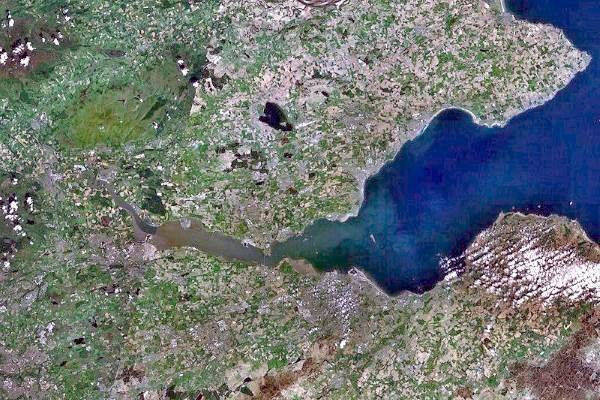 Underground coal gasification had been planned under the Firth of Forth. Photograph: Nasa