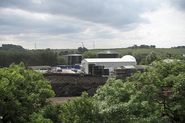 The site before the compsting facility wasc closed in 2013. It is now a fully enclosed food waste recycling facility. Photograph: Scottish Water