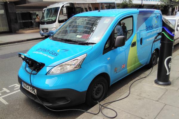 Firms such as British Gas already have electric vans in their fleets. Photograph: Gareth Simkins