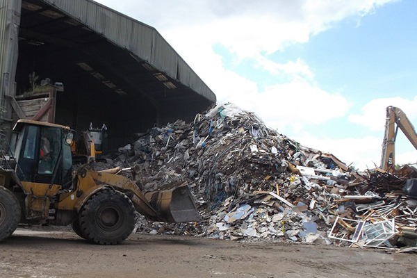 The height of the waste exceeded the 2.5 metres permitted. Photograph: Environment Agency