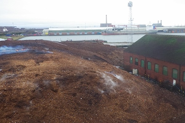 South Wales Wood Recycling pleaded guilty to breaching its permit conditions and keeping controlled waste in a manner likely to cause pollution or harm to human health. Photograph: Natural Resources Wales