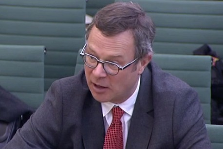 """Hugh Fearnley-Whittingstall said supermarkets must be """"completely honest and transparent about their own wasteful practices"""". Photograph: Parliament TV"""