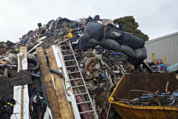 Knox stored waste 10 times above his permit limit. Photograph: Environment Agency