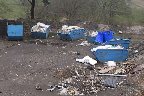 Waste had been stored contrary to the requirements of the waste management licensing exemptions registered for the site. Photograph: SEPA