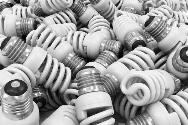 Crushing flourescent light bulbs risks emissions of mercury vapour. Photograph: rasslava / 123RF