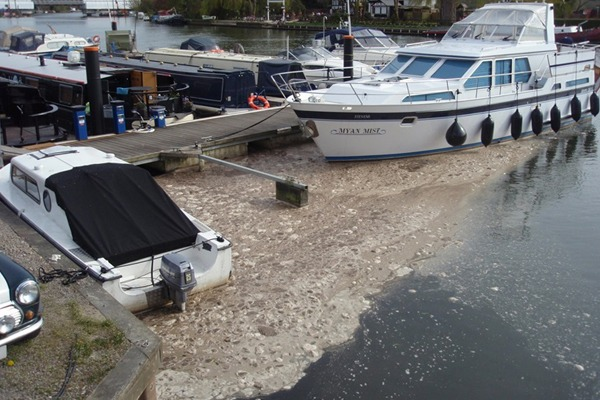 Untreated sewage was discharged from various sites into the river Thames, its tributaries and in one case directly onto the Thames path. Photograph: Environment Agency