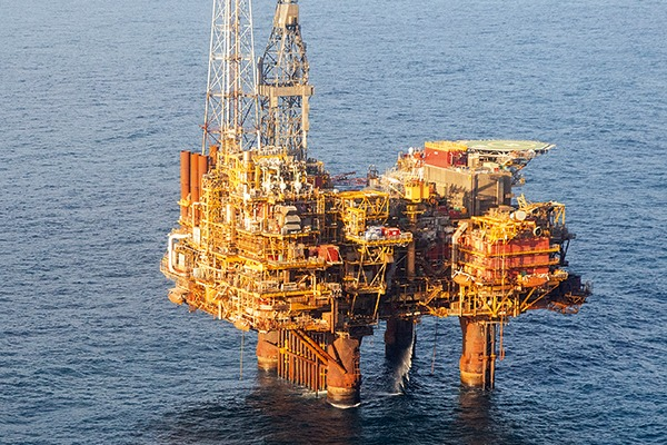 The Brent oil field has been earmarked for decommissioning. Photograph: Royal Dutch Shell