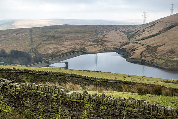 The moors above the reservoir could be planted to prevent flooding. Photograph: Yorkshire Water