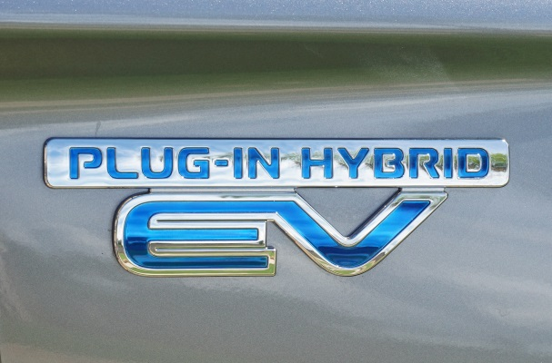 Plug-in hybrids, such as the Mitsubishi PHEV, are becoming a more common right. Photograph: Mariordo CC BY-SA 2.0