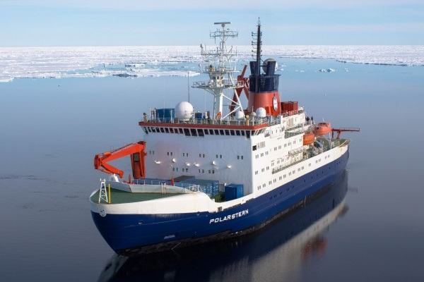 Scientists aboard the the Alfred Wegener Institute's RV Polarstern found Dechlorane Plus in air and seawater from pole to pole. Photograph: Stefanie Arndt