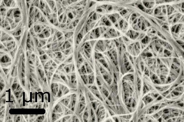 Bundles of carbon nanotubes. Photograph: Materialscientist CC BY-SA 3.0