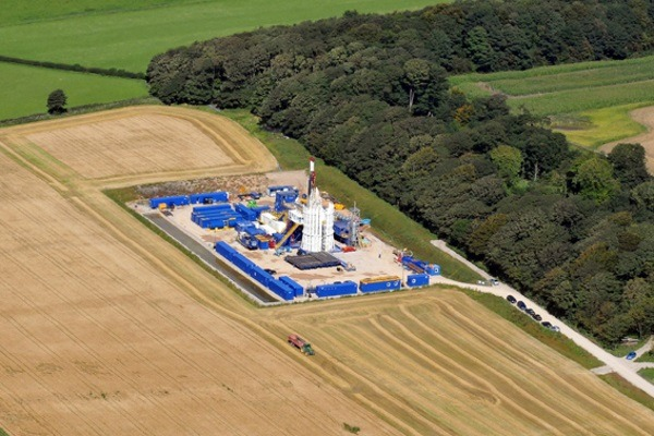 Communities secretary Sajid Javid overturned a decision to allow fracking at Preston New Road in October 2016. Photograph: Cuadrilla Resources