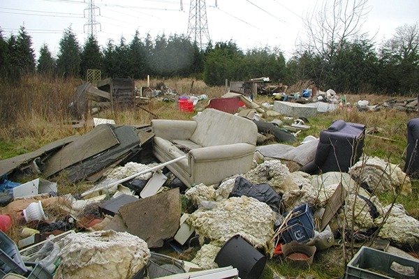 There have been 12 separate dumping incidents in Wales since June 2016. Photograph: Right Waste, right Place