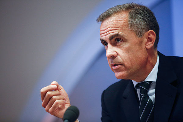 Mark Carney is chair of the Financial Stability Board (FSB). Photograph: Bank of England