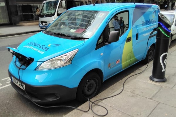 Electricity stored in plugged-in electric vehicles could be used to balance the grid. Photograph: Gareth Simkins