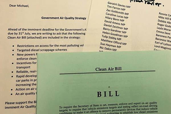 Letter calls on environment minister to adopt key provisions of Mr Davies' bill. Photograph: Geraint Davies