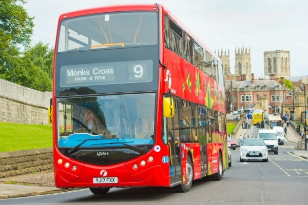 The first electric bus outside London is now operating in York. Photograph: First Group
