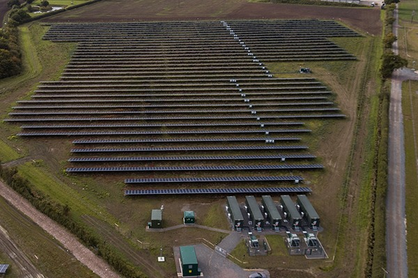 Subsidy-free 10MW Clayhill solar farm is expected to generate enough electricity for around 2,500 homes. Photograph: Anesco