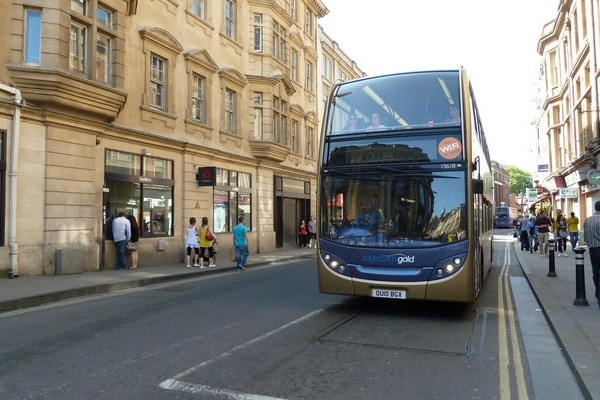 The buses going through Oxford's George Street would have to be zero-emission in 2025