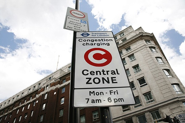 The congestion charge will rise £10 for more polluting vehicles from 23 October. Photograph: Sung Kuk Kim/123RF