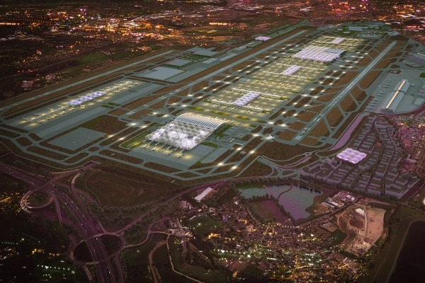 Building a third runway could jeopardise meeting air quality limits, the government has admitted. Photograph: Heathrow Airports Limited