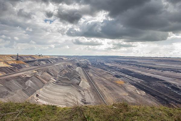 Garzweiler brown coal surface mining in Germany. Photograph: Tobias Arhelger/123RF