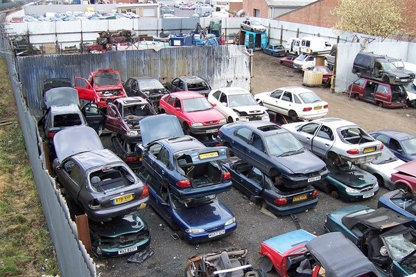Sending old diesel cars to the scrapheap would do little to improve air quality Photograph: David Wright/Geograph