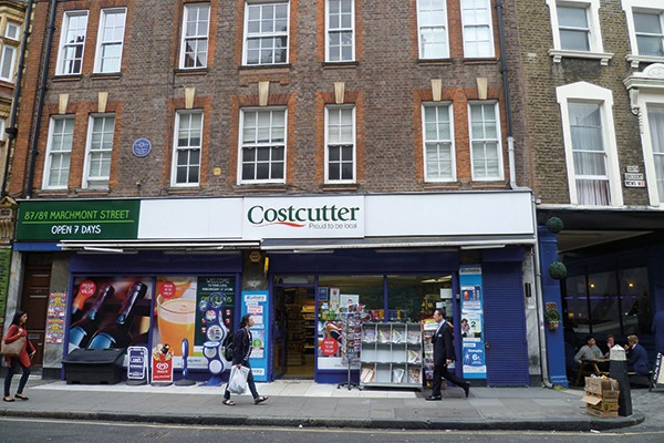 Convenience store chain Costcutter agreed to donate £650,000 to WRAP for breaking packaging waste regulations over 17 years. Photograph: Philafrenzy/Wikimedia Commons