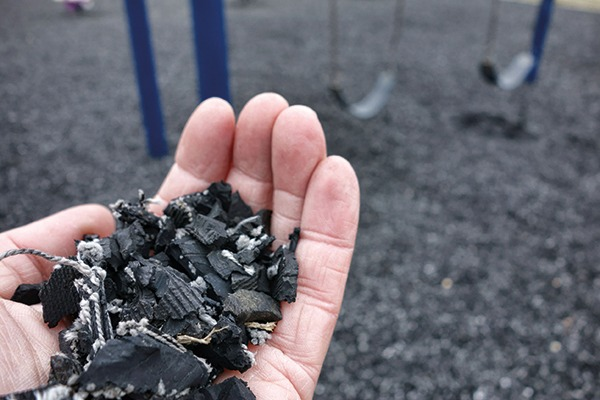 Playground surfaces made from old tires meet end-of-waste criteria as a new product. Photograph: 123RF