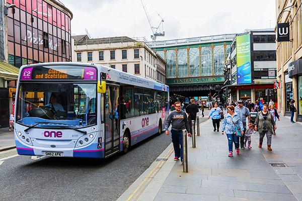 Glasgow's low emission zone, the first in Scotland, will apply first to buses.