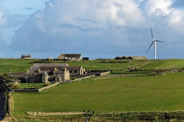 BEIS foresees onshore wind sites located on islands such as Orkney. Photograph: Pxhere