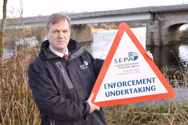 SEPA chief executive Terry A'Hearn was pleased with the outcome of the investigation into silt pollution. Photograph: SEPA