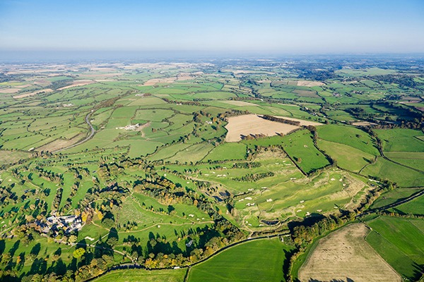 Aerial view of Somerset countryside. Photograph: Anthony Brown/123RF