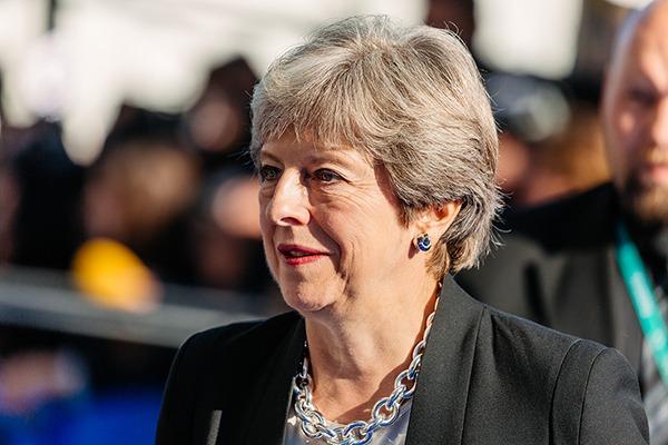 Theresa May. Photograph: Arno Mikkor (EU2017EE)