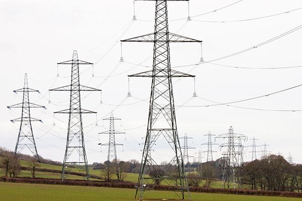 Powerlines in Devon countryside. Photograph: Patrick J Hanrahan/123RF