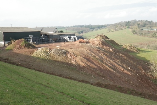 Waste dumped at Beech Down Farm