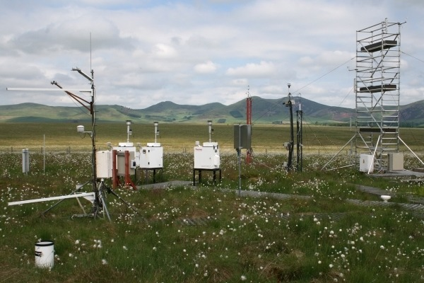 Part of the Auchencorth Moss air quality monitoring station