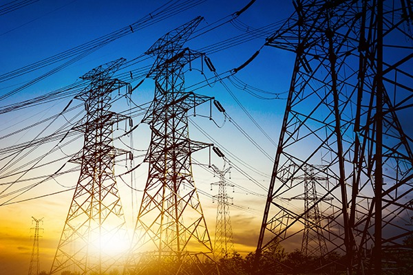 Powerlines and pylons. Photograph: stillraining/123RF