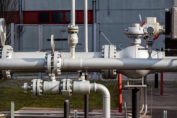 Pipes at district heating plant. Photograph: ginasanders/123RF