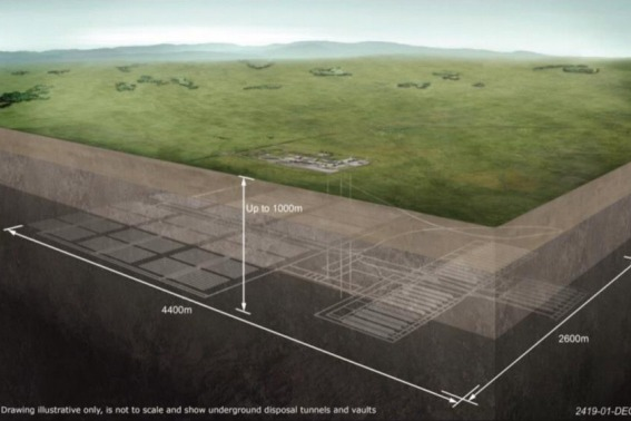 Illustrative drawing of a geological disposal facility. Image: BEIS