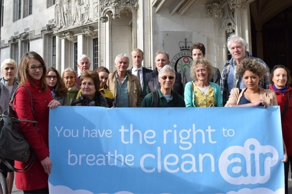 ClientEarth campaigners at the Supreme Court in 2015