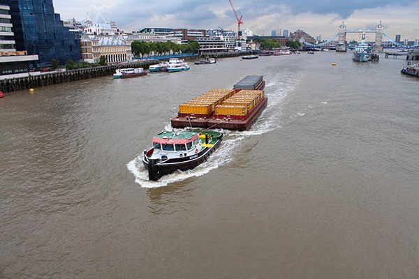Barge on the river Thames, London. Photograph: Ashok Saxena/Alamy Stock Photo